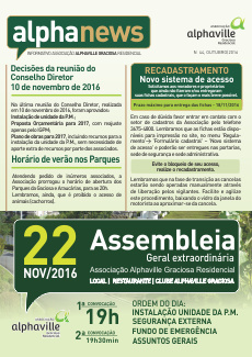 Informativo Outubro/2016